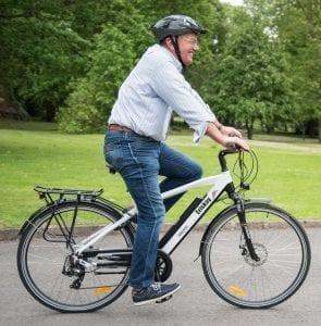 Man on Electric Bike